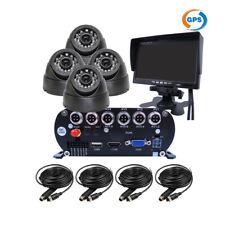 "1080P 2.0MP 4CH GPS 2TB Hard Disk Car DVR MDVR Video Recorder 4Camera 7"" Monitor"