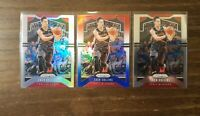 2019-20 Panini Prizm Zach Collins Silver Holo, Red White Blue Prizm, and Base