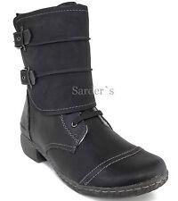 Hush Puppies HP Stiefelette 41 KunstLEDER Boots Schwarz Schuh Stiefel Warm NEU