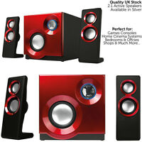 QUALITY 2.1 Compact Surround Sound Gaming Speaker System -PC Laptop TV Subwoofer