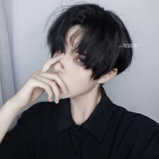 2020 Black Short Curly Hair BL Boys Men Harajuku kakkoii Daily Cosplay Wig
