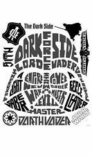 Darth Vader Dark Side Wall Stickers Mural Large Star Wars Peel Decal Made In USA