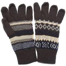 Mens Grey with French Blue/Cream Fair Isle Pattern Gloves RJM GL134