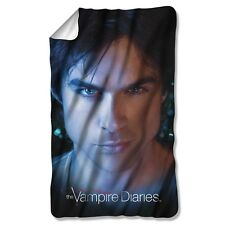 The Vampire Diaries Damon Eyes Licensed Fleece Throw Blanket 36x58