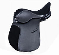 SYNTHETIC GENERAL PURPOSE HALFLINGER SADDLE SUEDE SEAT IN 14, 15, 16, 17 & 18