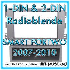 DIN und Doppel-DIN Radioblende SMART Fortwo 451 schwarz 2007-2010 Doppel-ISO