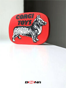 Decorative CORGI TOYS self standing logo display