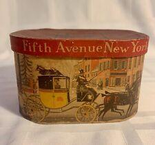 Rare Salesman'S Sample Of A Dobbs 5Th Avenue Hatbox With Original Hat.