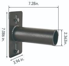 Tenon Wall  Adaptor. Black Bracket. Steel Lighting Mount. Horizontal