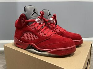 Jordan 5 Retro Red Suede 2017 136027-602 (Size 8)