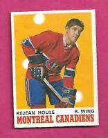 1970-71 OPC # 174 CANADIENS REJEAN HOULE ROOKIE EX-MT CARD (INV# D2727)