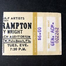 March 16, 1976~PETER FRAMPTON COMES ALIVE~CONCERT TICKET STUB~W.PALM BEACH FL