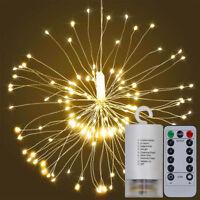 Xmas LED Licht Lichtervorhang Fernbedienung Weihnachtsbeleuchtung Lichterkette