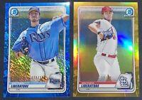 2020 Bowman Chrome Matthew Liberatore /50 Gold #198 + /150 Blue Shimmer #89 LOT!