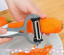 3 in 1 Rotary Fruit Vegetable Carrot Potato Peeler Cutter Slicer Amazing Healthy