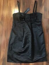 NEW ladies $198 FRENCH CONNECTION BLACK SHORT DRESS cocktail FORMAL sexy SIZE 6