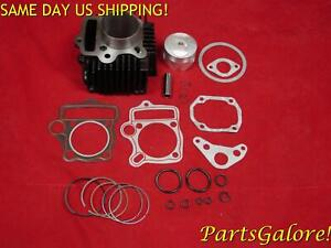 110cc 54mm Big Bore Cylinder & Piston Kit, 14mm or 13mm Pin, ATV Dirt Bike