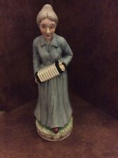Flambro Fine Porcelain Old Lady Woman Playing An Accordion