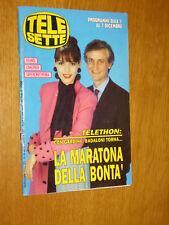 TELESETTE 1991/49=GARDINI BADALONI=MIA MOLINARI=MARIOLINA SATTANINO=AMANDA LEAR=