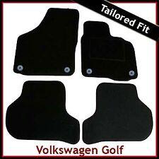 Volkswagen VW Golf Mk5 2003-2008 Round Eyelets Tailored Carpet Car Mats BLACK