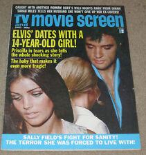 Elvis Presley TV And Movie Screen Magazine December 1973 Priscilla