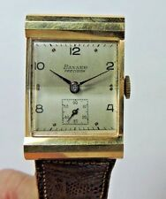 Antique Vintage 14k Yellow Gold BANNER Precision Swiss Men's Wrist Watch  #W301