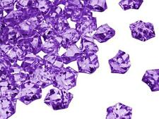 300 Purple Crystal Like ICE CUBES Wedding Party Tabletop CENTERPIECE Decorations
