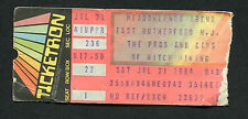 1984 Roger Waters Pink Floyd concert ticket stub Pros and Cons of Hitch Hiking