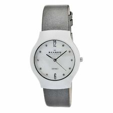 Skagen Women's 817SWLMLC Quartz Ceramic Mother-Of-Pearl Dial Watch