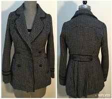 Valleygirl Size AU 10 Women's Professional Double Breasted Polka Dotted Blazer