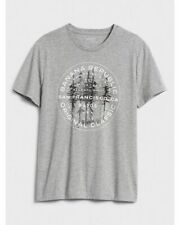 BNEW BANANA REPUBLIC Modern Logo Graphic Mens T-Shirt, Grey XLarge