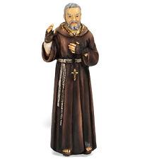Statue St Padre Pio 4 inch Painted Resin Figurine Patron Saint Catholic Card Box