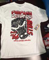 Chicago Bulls White T-Shirt Size XXL Michael Jordan NBA