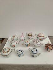 More details for 11 x victoria and albert museum teapot collection fine porcelain kangxi meissen