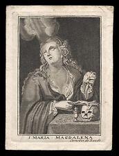 santino incisione 1600/1700 S.MARIA MADDALENA c. de boudt