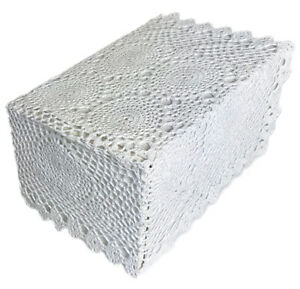 White Crochet Lace Chair Arm Covers (pairs) or Chair Backs (pairs) 100% Cotton