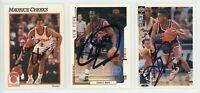 NEW YORK KNICKS Autographed Basketball Card Lot - 3 Autos MAURICE CHEEKS  DAVIS