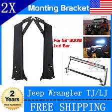 "1997-2006 Jeep Wrangler TJ/LJ 52"" 300W LED Light Bar Windshield Mounting Bracket"