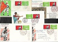 5 x Japan 1968 50th All-Japan High School Baseball Championship First Day Covers