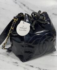 Vintage Chanel Black Patent Leather