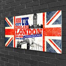 Glasbilder 100x50 Wandbild Druck auf Glas London Flagge Kunst
