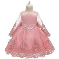 Girl's Fairy Flower Princess Dresses Party Evening Gown Kid's Dress Xmas Gift