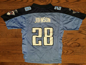 Chris Johnson #28 Tennessee Titans Reebok Football Jersey Youth Large 14-16 VTG