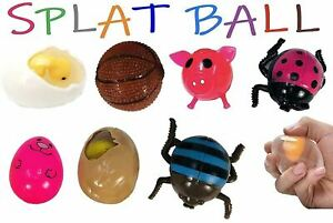 Sticky Ball Pig Egg Ladybug Splat Ball Squishy Squeeze Stress Relief Toys UK