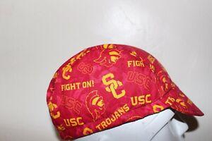 CYCLING CAP USC TROJANS FIGHT FIGHT HANDMADE IN USA   S M L
