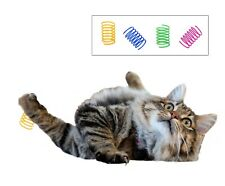 Cat Spring Toy Kitten 10 pack Bouncy recycled plastic toys UK Stock Fast Deliver