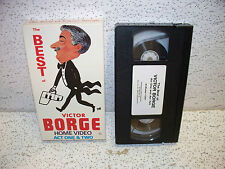 The Best of Victor Borge Act One and Two VHS Video Out Of Print