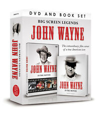BIG SCREEN LEGENDS JOHN WAYNE DOCUMENTARY DVD & BOOK - IN THE MOVIES GIFT SET