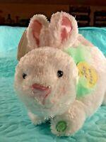 "NWT Hallmark Animated Plush White Bunny Easter Basket ""Some Bunny Loves You"""