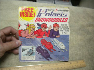 Vintage 1974 Polaris Electra Snowmobile Cereal Box Back ,lot of two,cut from box